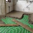 Podlahové vykurovanie - betonáž