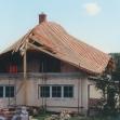"""Realizácia atypickej strechy """"lodička""""."""